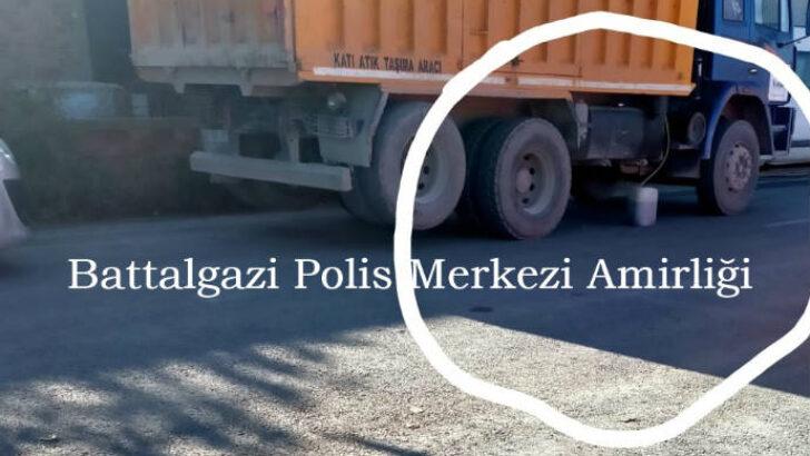 Malatya'da Kamyondan 40 Litre Mazot Çalan Şahıs Yakalandı