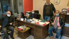 Gelecek Partisi Yesilyurt ilçe yönetimi Malatya'da Yerleşik Muhtarlar derneklerini ziyaret ettiler