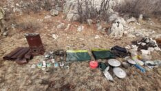 Malatya Pütürge İlçesinde BTÖ mensuplarına ait yaşam malzemesi ele geçirildi