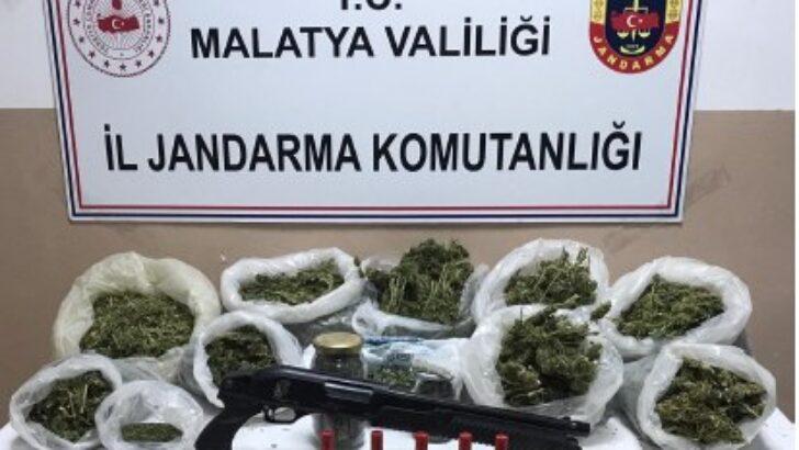 Yeşilyurt İlçesi Gözene Mahallesinde Uyuşturucu Madde İmal eden bir şahıs gözaltına alındı