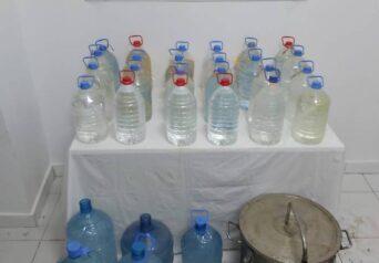 Malatya İli Yeşilyurt İlçesi Dilek Mahallesinde 260 Litre Kaçak Rakı Ele Geçirildi