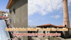 'Koca Vaiz Baba Türbesi' ile tarihi Ulu Cami'de, onarım ve restorasyon çalışmaları aralıksız şekilde devam ediyor. Video Haber