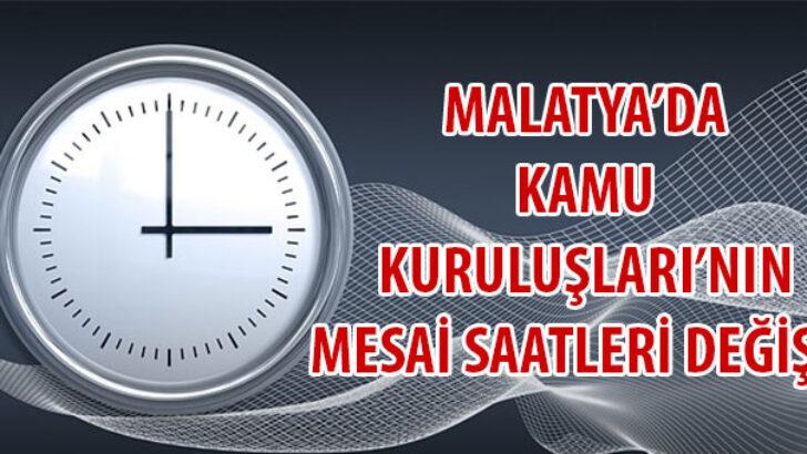 İlimizde Kamu Kurum ve Kuruluşlarında kademelendirilmiş mesai başlama ve bitiş saatlerinin 22 Mart 2021 tarihinden itibaren