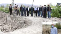Battalgazi Belediye Başkanı Osman Güder, Orduzu bölgesinde devam eden alt yapı çalışmalarını yerinde inceledi