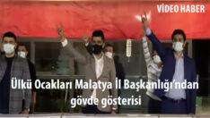 Ülkü Ocakları Malatya İl Başkanlığı'ndan gövde gösterisi