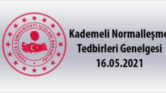 Kademeli Normalleşme Tedbirleri Genelgesi 16.05.2021