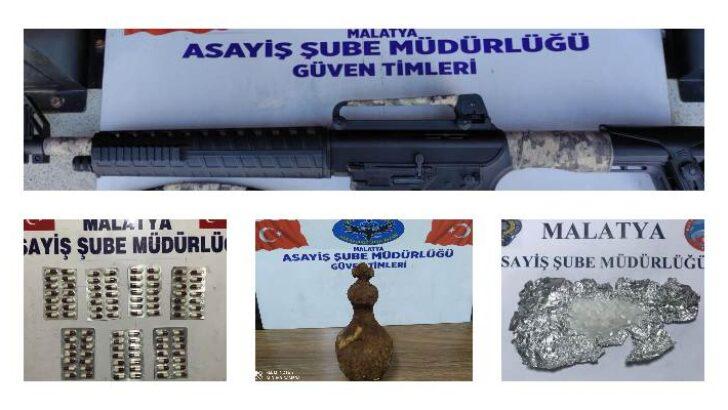 Malatya Asayiş Bülteni Asayiş Şube Müdürlüğünce yapılan çalışmalar 02 Haziran 2021