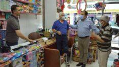 Keskin, vatandaşı esnafa alışverişe, esnafı da aşı olmaya davet etti
