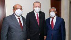 Battalgazi Belediye Başkanı Osman Güder, Cumhurbaşkanı Sayın Recep Tayyip Erdoğan'a Kayısının ilk hasadından takdim etti