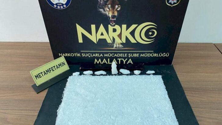 Malatya'da 1 kilo 20 gram Metamfetamin ele geçirildi